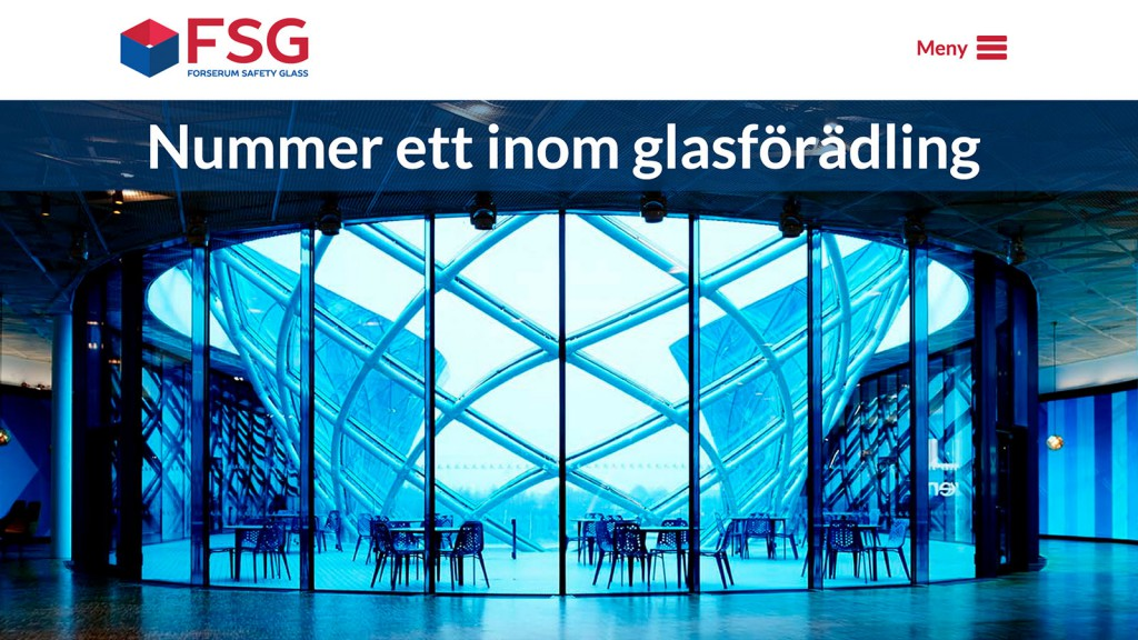Forserum safety glass grafisk profil och webbplats