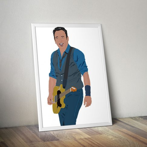Bruce Springsteen Vector Painting