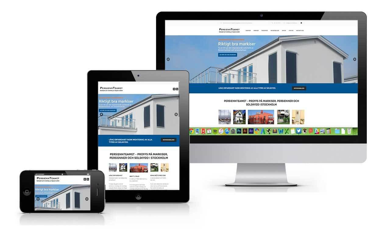 persiennteamet webbplats